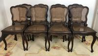 Antique French Set Of 8 Bergère Cane Dining Chairs (4 of 12)