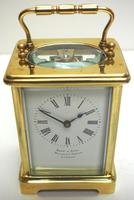 Fine Antique French 8-day Carriage Clock Timepiece by Drew & Sons London (5 of 11)