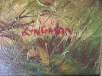 Eugene Kingman Oil on Canvas - Hunting Dog with Gamebirds (3 of 3)