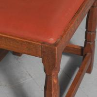 Oak & Leather Stool by Derek 'Lizardman' Slater of Crayke (4 of 5)