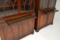 Pair of Antique Georgian Style Mahogany Bookcases (11 of 11)
