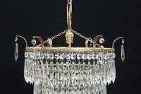 Italian Art Deco Five Tier Crystal Glass Chandelier (6 of 7)
