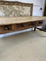 Superb Large 19th Century Pine Kitchen Table (4 of 10)