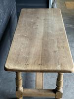 French Bleached Oak Farmhouse Kitchen Table (4 of 25)