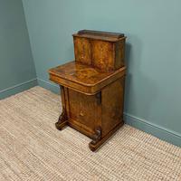 Spectacular Quality Victorian Figured Walnut Antique Davenport (2 of 9)