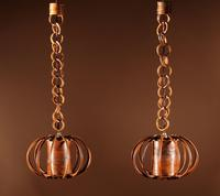 Pair of 1960s Very Decorative Rattan Hanging Lights (4 of 7)