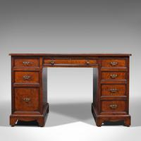 Antique Morning Room Desk, English, Walnut, Writing Table, Victorian c.1880 (2 of 12)