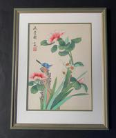 Very Attractive Set of Four Chinese Watercolours on Silk Pictures (5 of 5)