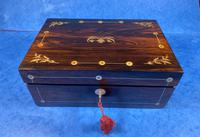 William IV Rosewood Jewellery Box With Mother Of Pearl Inlay (2 of 17)