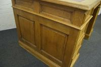 Antique Solid Oak Pedestal Desk (6 of 10)