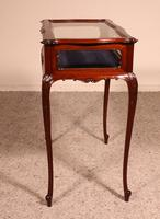 Small Mahogany Showcase Cabinet from Jeweler or Exhibition 19th Century (7 of 12)