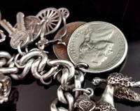 Vintage Sterling Silver Charm Bracelet, 1960s - Heavy (8 of 12)
