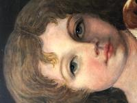 Victorian 19th Century Oil Painting Portrait Young Girl & Cavalier King Charles Spaniel (12 of 34)
