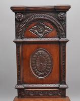 Near Pair of 19th Century Carved Oak Gothic Hall Chairs (6 of 12)