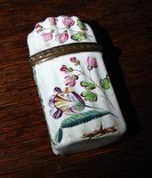 Georgian Battersea enamel scent bottle holder (4 of 5)