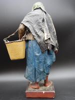 Attractive Mid 19th Century Papier-mâché Crib Figure of Elderly Lady (4 of 5)