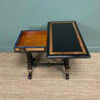 Victorian Ebonized and Walnut Antique Games Table (3 of 9)