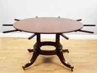 Large Mahogany Circular Extending Dining Table (2 of 12)