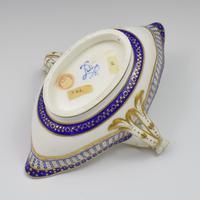 18th Century Sevres Porcelain Sauciere A Deux Sauceboat & Plate Pois Bleu 1788 (13 of 20)