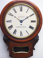 Rare Antique Drop Dial Wall Clock 8 Day Single Fusee Movement (6 of 13)