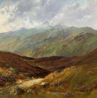 (1of2) Huge Exceptional 19thc Snowdonia Welsh Mountain Landscape Oil Painting (15 of 15)