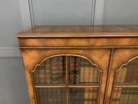 Good Burr Walnut Glazed 2 Door Bookcase (9 of 15)
