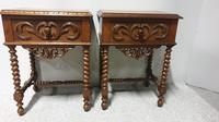 Pair of French Walnut Bedside Lamp Tables (9 of 10)
