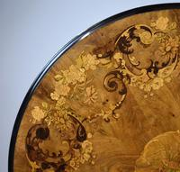 Victorian Walnut Marquetry Inlaid Circular Table (8 of 15)