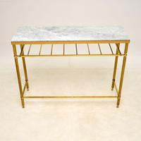 Vintage French Brass & Marble Console Table (2 of 8)