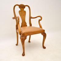 Antique Burr Walnut Dining Table & Chairs by Epstein (8 of 15)