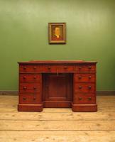 Victorian Antique Pedestal Desk, Hobbs & Co London (8 of 24)