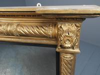 Regency Carved and Gilded Rectangular Overmantel Mirror (6 of 8)