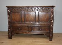 Carved Oak Two Drawer Coffer (3 of 7)