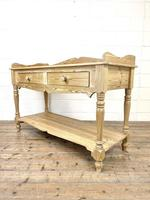 Large Rustic Pine Sideboard with Drawers (8 of 10)