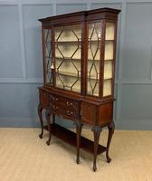 Carved Mahogany Display Cabinet by Warings (19 of 19)