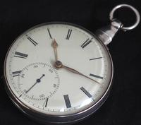 Antique Silver Pair Case Pocket Watch Fusee Escapement Key Wind Enamel Dial John Bernard London Liverpool (4 of 12)