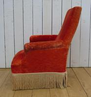 Antique French Armchair & Matching Stool (7 of 13)