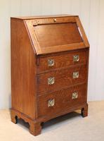 Arts and Crafts Oak Bureau (6 of 11)