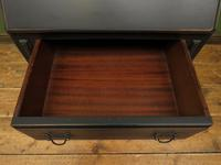 Small Antique Painted Black Writing Bureau desk with fall front, Gothic (2 of 14)