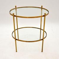 Vintage French Brass & Glass Side Table (2 of 10)