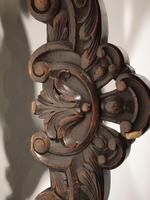 Remarkable Pair of Late 19th Century Walnut Throne Chairs (7 of 10)