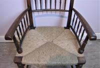 William Morris Spindle Back Oak Armchair (4 of 5)