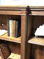 Oak Breakfront Open Bookcase (4 of 20)