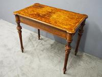 Victorian Inlaid Burr Walnut Games Table (4 of 9)