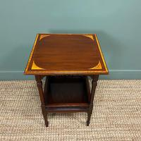 Stunning Victorian Inlaid Antique Mahogany Occasional Table
