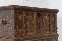 18th Century Painted Trunk on Stand (5 of 13)