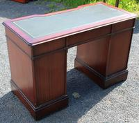 1960s Mahogany Pedestal Desk with Green Leather on Top. 1 Piece (4 of 4)