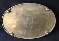 Arts & Crafts Brass Oval Gallery Tray (5 of 5)