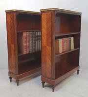 Pair of 19th Century Marble Topped Open Bookcases (2 of 5)
