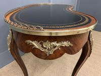 Victorian Kidney Shaped Rosewood Writing Table (11 of 18)
